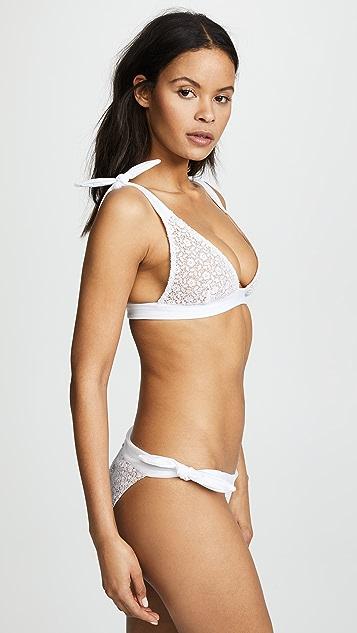 For Love & Lemons Daquiri Lace Bikini Top