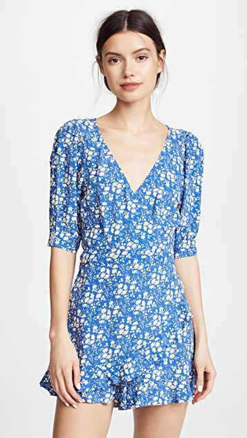 For Love & Lemons Zamira Floral Romper
