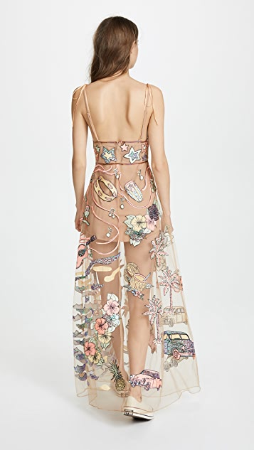 For Love & Lemons Cuba Embroider Sequin Dress