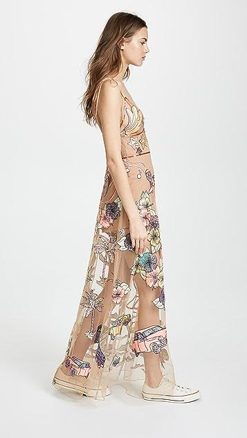 For Love & Lemons Cuba Embroider Sequin Dress