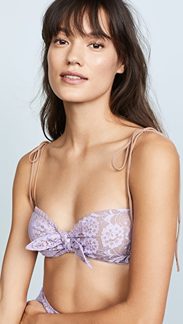 For Love & Lemons Valentina Lace Crop Top