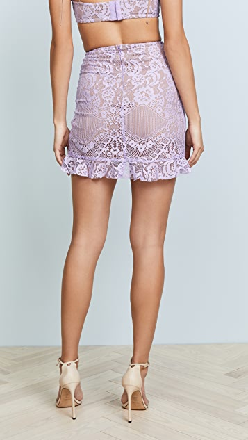 For Love & Lemons Valentina Lace Miniskirt
