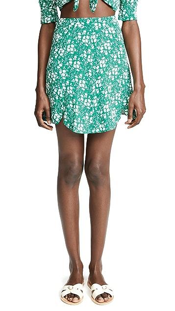 For Love & Lemons Zamira Floral Miniskirt