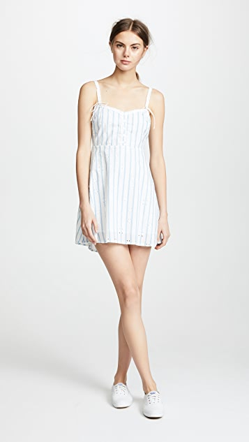 For Love & Lemons Picnic Eyelet Mini Dress