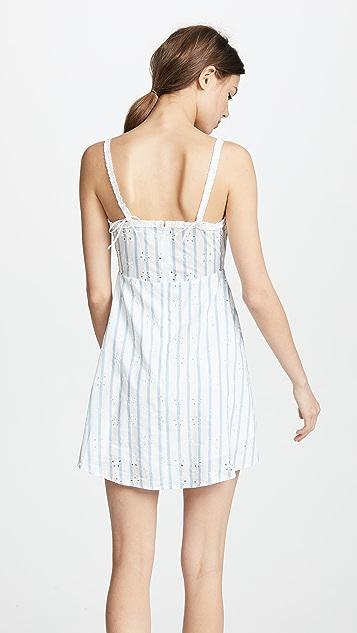 For Love & Lemons Picnic Eyelet Mini Dress