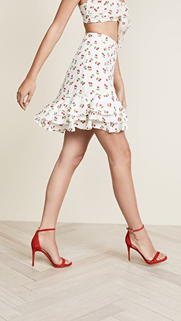 For Love & Lemons Cherry Skirt
