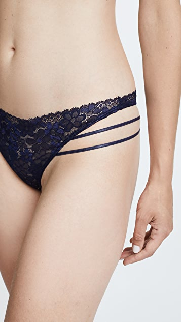 For Love & Lemons Mia Lace Strappy Thong