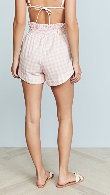 For Love & Lemons Lotti Gingham Shorts