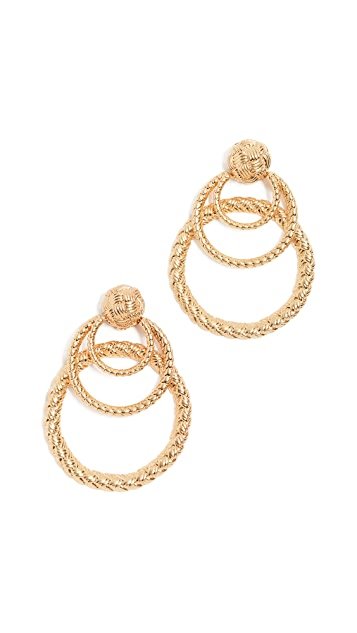 For Love & Lemons Triple Hoop Earrings