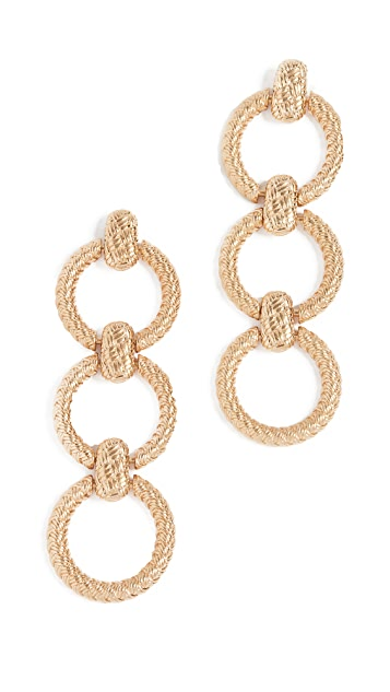 For Love & Lemons Circle Link Earrings