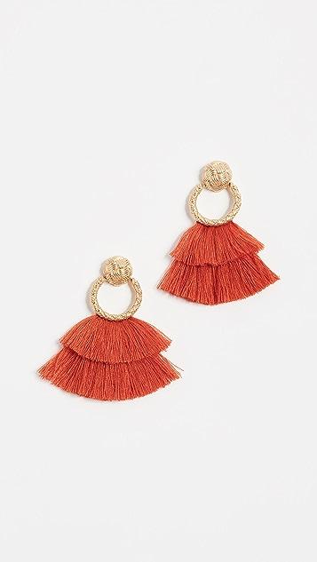 For Love & Lemons Loop Fringe Earrings