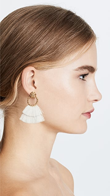 For Love & Lemons Loop Fringe Earrings