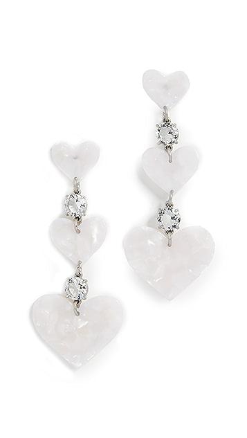 For Love & Lemons Heart Drop Earrings