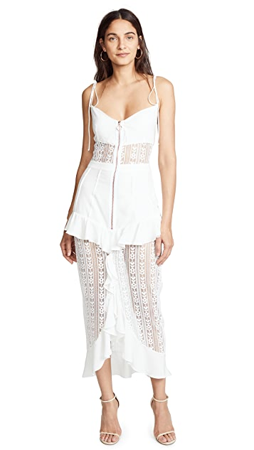 For Love & Lemons Lovebird Lace Dress