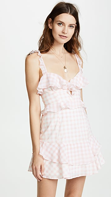 For Love & Lemons Dixie Ruffled Mini Dress