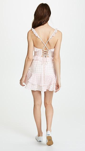 For Love & Lemons Dixie Ruffled Mini Dress