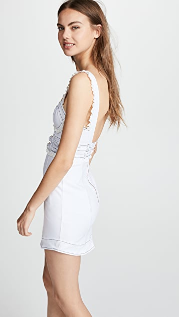 For Love & Lemons Daria Denim Dress