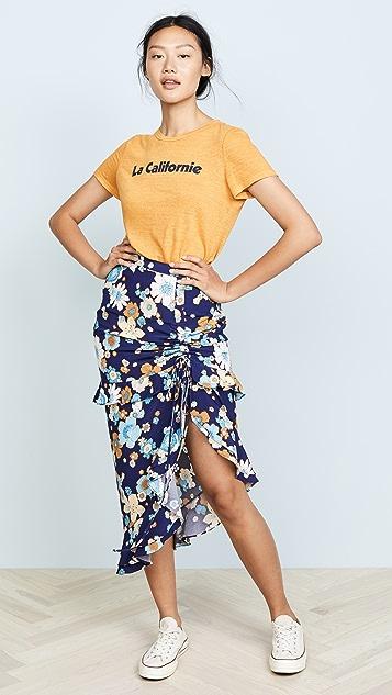 Magnolia Shirred Midi Skirt by For Love &Amp; Lemons