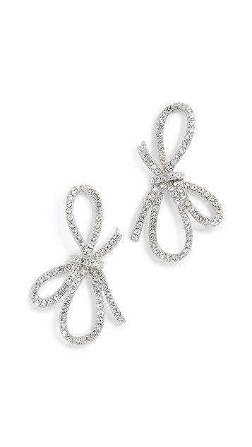 For Love & Lemons Crystal Bow Earrings
