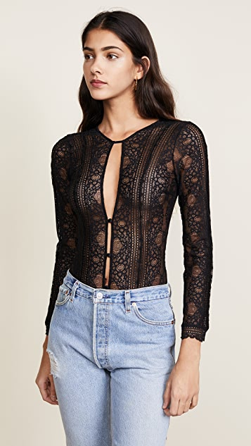 For Love & Lemons Elsa Bracelet Sleeve Bodysuit
