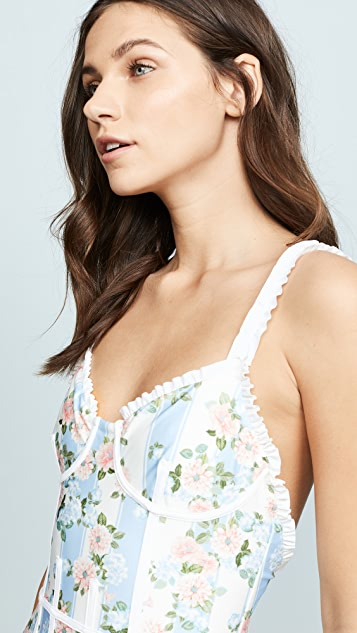 For Love & Lemons Charleston One Piece Swimsuit