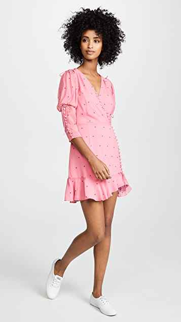 For Love & Lemons Rosie Button Mini Dress