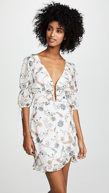 For Love & Lemons Elyse Flirty Mini Dress