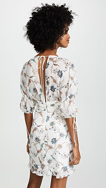 For Love & Lemons Elyse Flirty Mini Dress