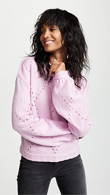 For Love & Lemons Mia Pointelle Sweater