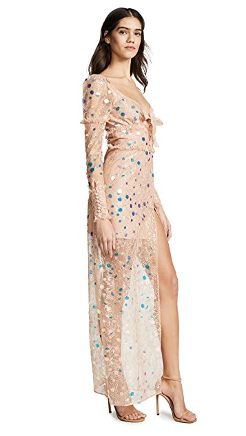 For Love & Lemons Ace Maxi Dress