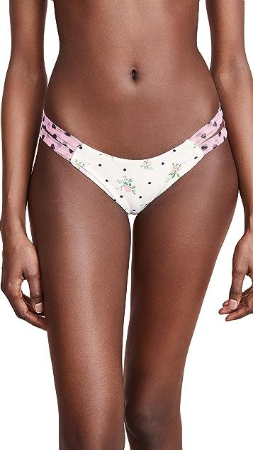 For Love & Lemons Naomi Twist Bikini Bottoms