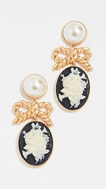 For Love & Lemons Imitation Pearl Cameo Earrings