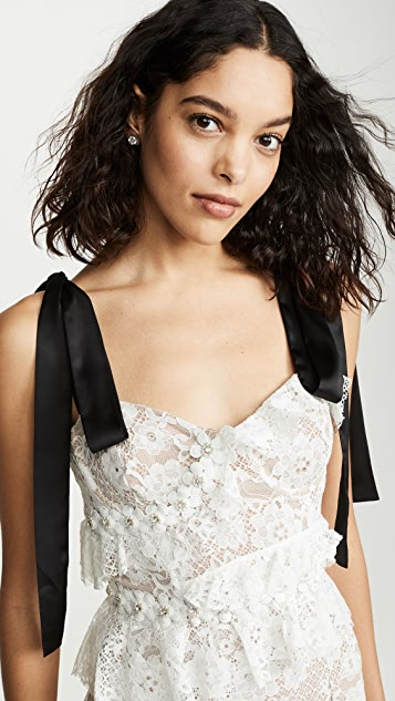 For Love & Lemons Fabienne 中长连衣裙