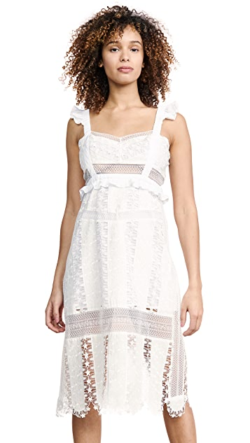 For Love & Lemons Gabrielle Midi Dress