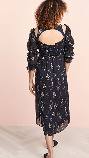 For Love & Lemons Nicola Midi Dress