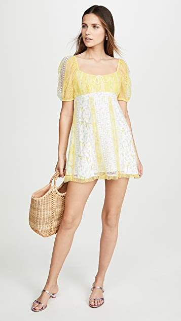 For Love & Lemons Limoncella Mini Dress