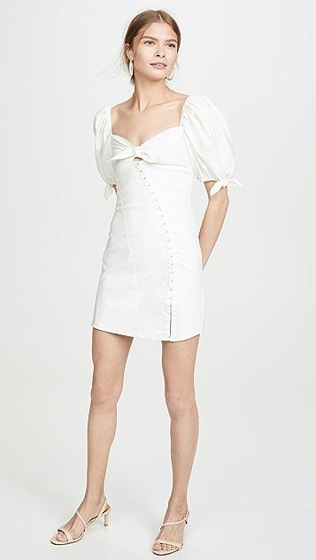 For Love & Lemons Мини-платье Macaroon с крючком спереди