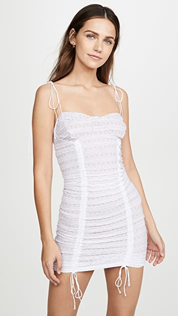 For Love & Lemons Fondant Shirred Mini Dress