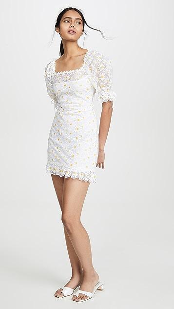 For Love & Lemons Мини-платье Brulee с изображением маргариток
