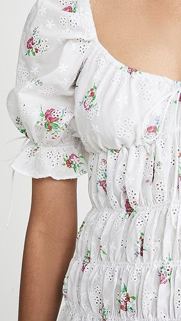 For Love & Lemons Присборенное платье Tarte с прорезями
