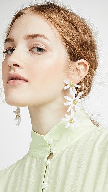 For Love & Lemons Lucite Daisy Earrings