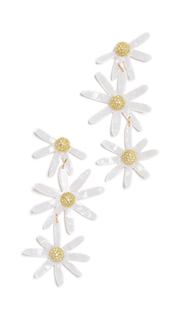 For Love & Lemons Lucite Daisy Earrings