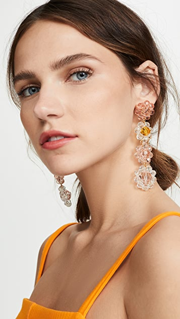 For Love & Lemons Bouquet Beaded Earrings
