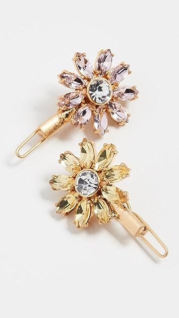 For Love & Lemons Crystal Daisy Hair Pin
