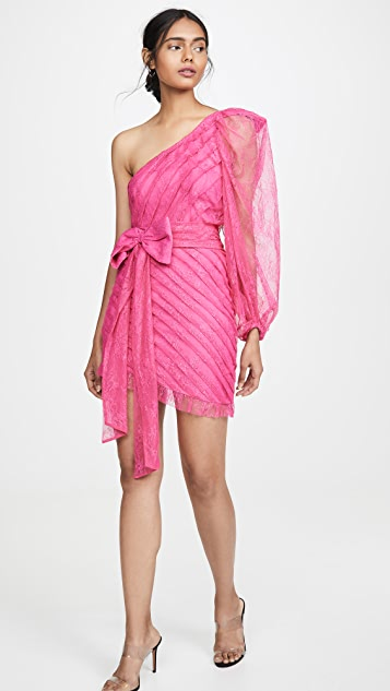 For Love & Lemons Dynasty One Shoulder Dress