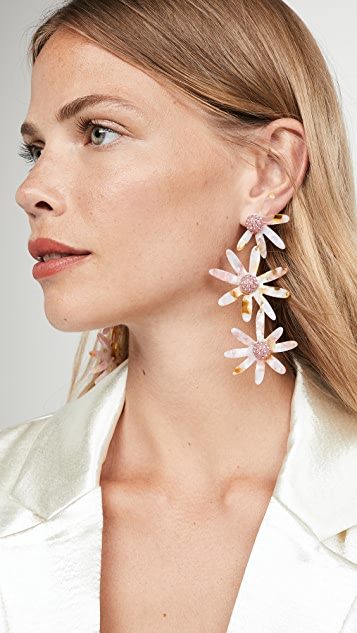 For Love & Lemons Ryder Daisy Earrings