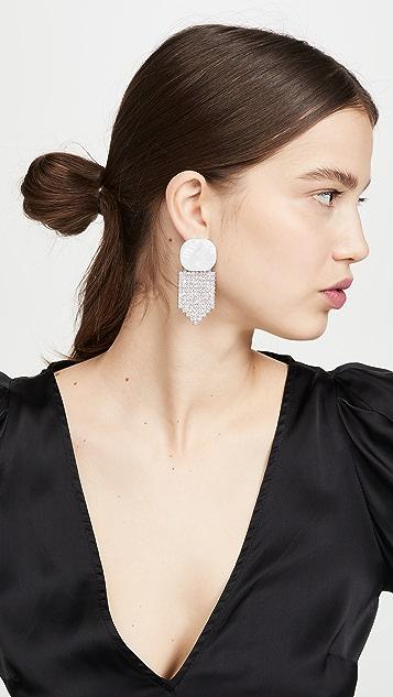 For Love & Lemons Auburn Crystal Earrings