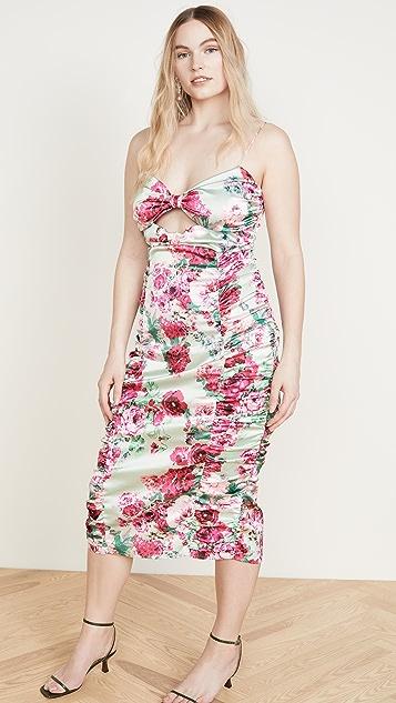For Love & Lemons Robin Floral Midi Dress