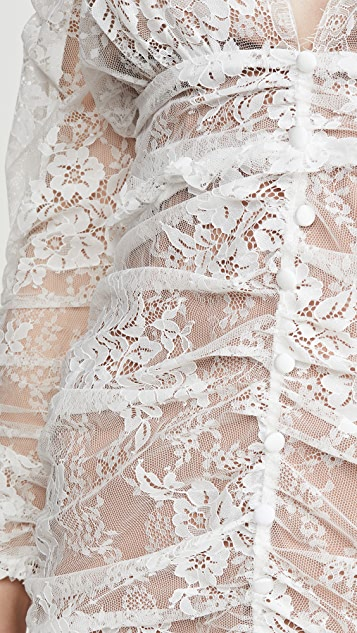 For Love & Lemons Cheyenne 蕾丝长连衣裙