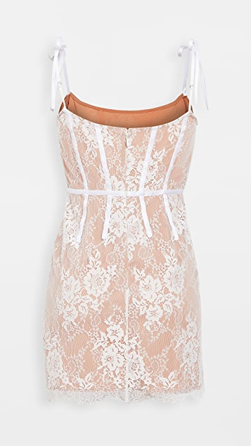 For Love & Lemons Cheyenne 蕾丝迷你连衣裙